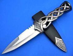 Scottish Dirk Blue Stone Celtic Dagger Blade Knife NEW