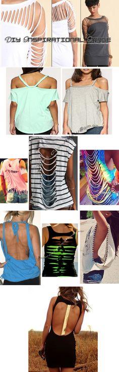 #DIY #INSPIRATIONAL IMAGE , #Shirt , #Shoulders , #ideas , #Studs , #Top , #Fringe , #Cut #Back , #Dress