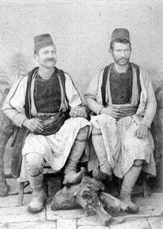 Aromanian men photographed by the Manaki brothers