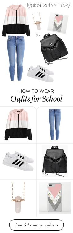 """typical school day"" by megamilliongotmoney6 on Polyvore featuring Current/Elliott, adidas, Rebecca Minkoff and Shashi"