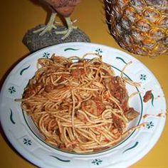 One of my favorite dishes; it's better if you make it a day ahead.  Bacon and Mushroom Spaghetti Allrecipes.com Bacon Muffins, Egg Muffins, Spaghetti Noodles, Spaghetti Recipes, Best Bacon, Bacon Dip, Bacon Stuffed Mushrooms, Mushroom Pasta, Italian Pasta