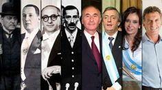 De Yrigoyen a Macri, todos los presidentes desde la Ley Sáenz Peña