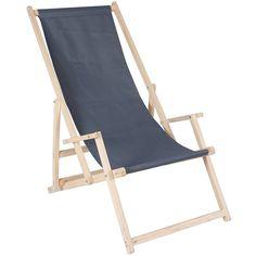 Quik Shade pliable plage chaise-à rayures bleu marine