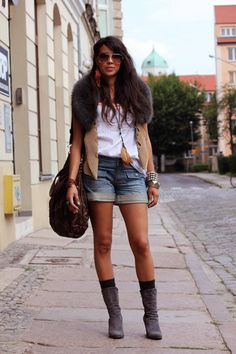 boots & jean shorts