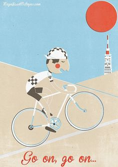 Tribute to Tom Simpson in Mont-Ventoux for Tour de France.