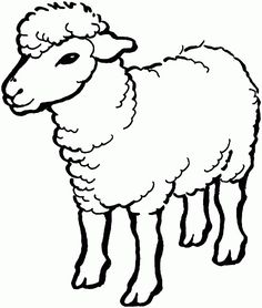 Free Printable Pictures of Sheep | free printable coloring page ...