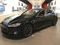 Tesla Model S; I've started seeing more of these amazing rides on the road!