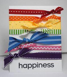Rainbow ribbon card.