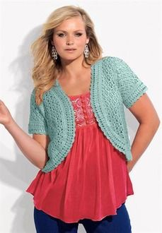 Cropped crochet cardigan