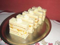 Mandarinkové rezy, recepty, Zákusky | Tortyodmamy.sk Vanilla Cake, Cheesecake, Sweets, Cookies, Recipes, Food, Hampers, Bakken, Crack Crackers