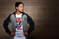 Women's Nike Anthracite Team USA Fleece Performance Full-Zip Hoodie