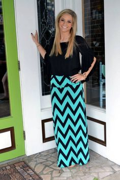 Cute chevron maxi skirt!