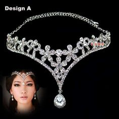 Wholesale Hair Accessories - Buy Fashion Crystal Tiara Crown Hair Accessories For Wedding Quinceanera Hair Chain Pageant Hair Jewelry, $22.26 | DHgate