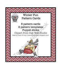 Winter Fun Pattern Cards product from Preschool-Printable on TeachersNotebook.com