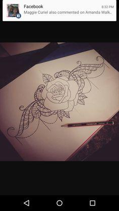Breast plate, chest, sternum, Underboob tattoo ink rose simple design idea