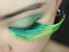 long green false eyelashes for st patricks day, Halloween, dance