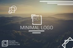 """Check out my @Behance project: """"Minimal Square Logo - Hipster Line"""" https://www.behance.net/gallery/43851183/Minimal-Square-Logo-Hipster-Line"""