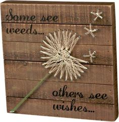 Primitives by Kathy String Art Box Sign, Dandelion-Wishes - Excellent quality very fair price.This Primitives by Kathy that is ranked 74 Crafts To Make, Fun Crafts, Diy Crafts For Gifts, Diy Arts And Crafts, Baby Crafts, Preschool Crafts, String Art Diy, String Crafts, String Art Patterns
