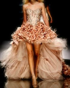 I like big extravagant dresses!