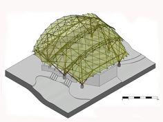 Gallery of Bamboo Amphitheater Space Structure / Bambutec Design - 37 - architektur Conceptual Architecture, Bamboo Architecture, Architecture Portfolio, Architecture Diagrams, Architecture Interiors, School Architecture, Architecture Presentation Board, Presentation Boards, Architectural Presentation