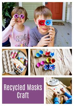 Kids love this one! And since I had most of the materials on hand, it was a very easy project to throw together. Big creative payoff, low parental prep time—what are you waiting for? Dig an old egg carton out of your recycling bin and let's get started! Popsicle Stick Crafts, Craft Stick Crafts, Sparkle Stories, Sparkle Crafts, Recycling Bins, 4 Kids, Summer Activities, Easy Projects, Waiting
