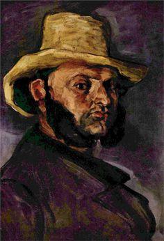 Paul Cézanne - 'Man in a Straw Hat' - (1871)