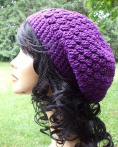 My Pretty Slouchy Hat Tam Beret PURPLE Handmade on Etsy Ready to Ship. $16.00, via Etsy.