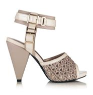 "mark Put It In Neutral Heels, Cruise into the season's hottest trends-cone heel, ankle strap, basket weave detailing-all with one freewheeling sandal. Faux leather and faux patent leather. 1/2"" platform, 4"" heel. Imported. http://www.youravon.com/zweinberg"