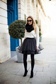 Sylwia Majdan Skirt, Christian Louboutin Shoes, Zara Top - Paris Fashion week.. - Magdalena Knitter   LOOKBOOK