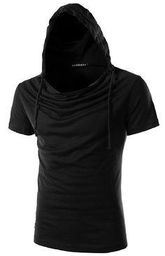 Whatlees Unisex Street Fashion Short Sleeve Casual Wrinkle Sweatshirts Pullover Hoodies B025-pink-L