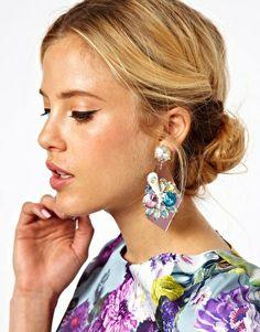 Image 2 ofASOS Fanfare Flower Earrings