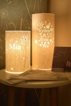Hannah Nunn personalised lamps