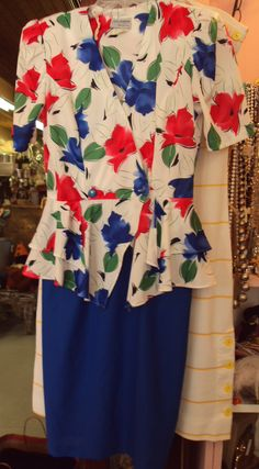1980s does 1940s dress with peplum
