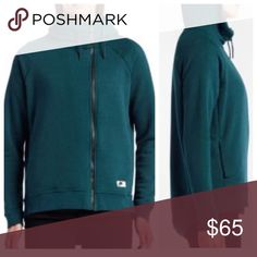 Nike Modern Cape Zip Up Hoodie Nike Modern Cape Zip Up Hoodie.  Color-midnight turquoise. Full-zip jacket Adjustable scuba hood for warmth Dropped back hem enhances coverage Ergonomic seams for mobility Side pockets for convenient storage Fabric Content: 52% cotton / 29% polyester / 19% rayon.  Never worn.  Brand new with tags still attached.  No trades.  Price is firm. Nike Tops Sweatshirts & Hoodies