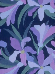 Atelier Martine, Iris, wallpaper, ca. 1912. Collection Bibliothèque Forney, Paris.