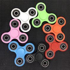 7 Colores Mano Tri-Spinner Fidget Juguete Plástico EDC Fidget Hilanderos De Autismo Sensorial Y Niños CON TDAH/Adulto Antiestrés divertidos Juguetes