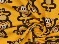 Stretch katoen monkey 1 Tigger, Disney Characters, Fabric, Jersey, Sewing, Cozy Outfits, Fireman Sam, Casual Work Wear, Cotton Fabric