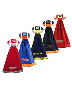 @Overstock - Celebrate your team with this NCAA college football blanket set. It includes a fleece security blanket and signature plush football that is perfect for little fans. Choose from several teams including the Auburn Tigers, Florida Gators, and many more.http://www.overstock.com/Sports-Toys/NCAA-College-Team-Logo-Snuggleball-Security-Blanket/2870062/product.html?CID=214117 $11.89