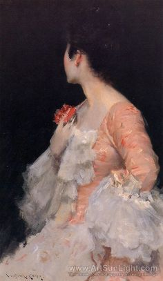 Portrait of a Lady 1890 Artist: Chase, William Merritt (American 1849-1916) Impressionist Painter.