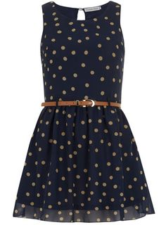 Navy dotty dress