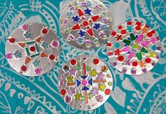 In the Art Room: Radial Relief by Fourth Grade