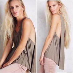 Free People Stone Swing Tank Free People stone swing tank. Lightweight and so easy to wear with anything! Size large. Would also fit XL. Brand new with tags. ❌NO TRADES ❌ NO PP❌ NO LOWBALLING ❌ Free People Tops Tank Tops