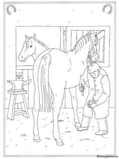 Coloring Page At The Stables