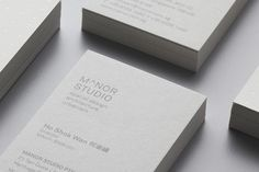 Logo and stationery for Singapore-based architectural and spatial design practice Manor Studio created by Manic. Business Stationary, Business Card Design, Business Cards, Creative Business, Design Agency, Branding Design, Logo Design, Logo Branding, Print Design