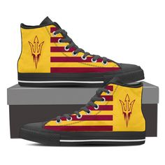 ARIZONA STATE SUN DEVILS AMERICA FLAG STYLE HIGH TOP SHOES – Best Funny Store