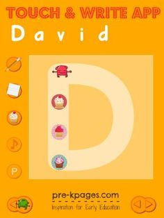 Touch and Write App for Name Writing in #preschool and #kindergarten