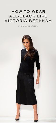 Happy birthday, Victoria Beckham! A roundup of all her best all-black outfits