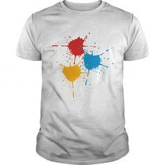 I Love  3 basic colors - Splash - V3  Shirts & Tees