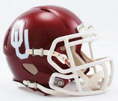 Must have product now available: Oklahoma Sooners ... Get it here! http://www.757sc.com/products/oklahoma-sooners-speed-mini-helmet-cdg?utm_campaign=social_autopilot&utm_source=pin&utm_medium=pin