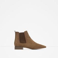 Image 1 of FLAT LEATHER BOOTIES from Zara